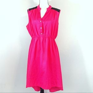 Delirious Pink High Low Sleveless Dress Size 1X